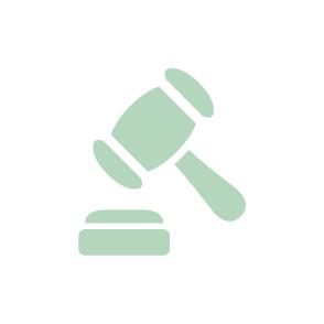 picto symbolisant les missions juridique du cabinet d'expertise comptable EHPC Conseils appartenant à pascale combabessou picto vert et blanc