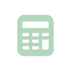 picto symbolisant les missions de suivi comptable et de gestion du cabinet d'expertise comptable EHPC Conseils appartenant à pascale combabessou picto vert et blanc
