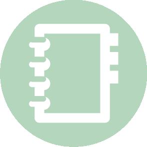 picto symbolisant le compte de résultat réalisé par le cabinet d'expertise comptable EHPC Conseils appartenant à pascale combabessou et emilie humbrecht vous conseille - picto vert et blanc