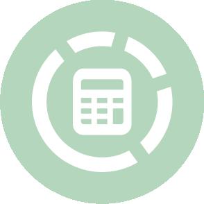 picto symbolisant la comptabilité analytique réalisé par le cabinet d'expertise comptable EHPC Conseils appartenant à pascale combabessou et emilie humbrecht vous conseille - picto vert et blanc
