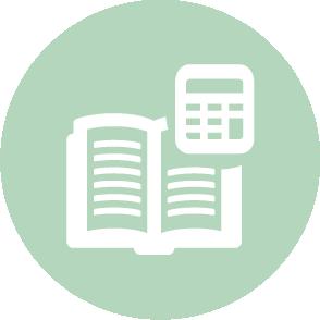 picto symbolisant la facturation réalisé par le cabinet d'expertise comptable EHPC Conseils appartenant à pascale combabessou et emilie humbrecht vous conseille - picto vert et blanc
