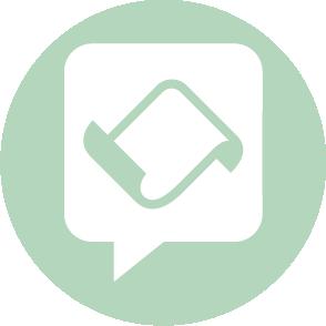 picto symbolisant le conseil fiscal réalisé par le cabinet d'expertise comptable EHPC Conseils appartenant à pascale combabessou et emilie humbrecht vous conseille - picto vert et blanc