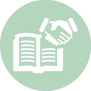 picto symbolisant l'accompagnement lors des déclartions sociales réalisé par le cabinet d'expertise comptable EHPC Conseils appartenant à pascale combabessou et emilie humbrecht vous conseille - picto vert et blanc