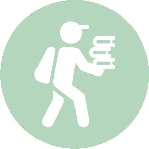 picto symbolisant la cession d'une entreprise réalisé par le cabinet d'expertise comptable EHPC Conseils appartenant à pascale combabessou et emilie humbrecht vous conseille - picto vert et blanc
