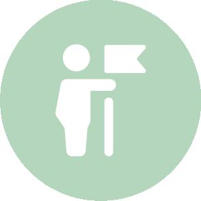 picto symbolisant l'accompagnement lors des formalités d'embauche réalisé par le cabinet d'expertise comptable EHPC Conseils appartenant à pascale combabessou et emilie humbrecht vous conseille - picto vert et blanc