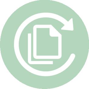 picto symbolisant le conseil en organisation domaine dans lequel le cabinet d'expertise comptable EHPC Conseils appartenant à pascale combabessou et emilie humbrecht vous conseille - picto vert et blanc
