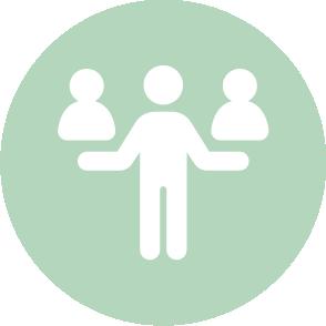 picto symbolisant ll'accompagnement réalisé par le cabinet d'expertise comptable EHPC Conseils appartenant à pascale combabessou et emilie humbrecht vous conseille - picto vert et blanc
