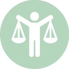 picto symbolisant l'assistance à la liquidation réalisé par le cabinet d'expertise comptable EHPC Conseils appartenant à pascale combabessou et emilie humbrecht vous conseille - picto vert et blanc