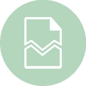 picto symbolisant l'accompagnement lors des démarches de fin de contrat de travail réalisé par le cabinet d'expertise comptable EHPC Conseils appartenant à pascale combabessou et emilie humbrecht vous conseille - picto vert et blanc